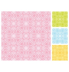 Seamless floral pattern in different pastel color vector image