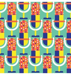 Seamless Microphone Pattern Music vector image