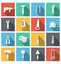 Tools flat icons set vector