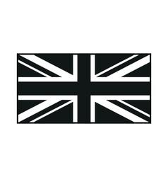 United kingdom flag monochrome on white background vector