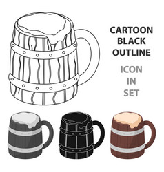 Viking ale icon in cartoon style isolated on white vector