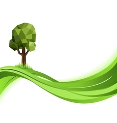Green nature background Eco concept vector image