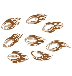 Rugby and football tattoos vector
