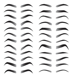 Set of women eyebrows for beauty concept vector