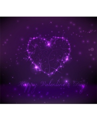 purple valentine background vector image