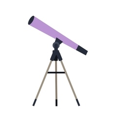 Telescope in Flat Style Design vector image