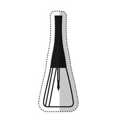 Nails polish bottle icon vector