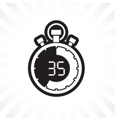 Stopwatch thirty five minute vector