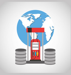 oil industry business icons vector image