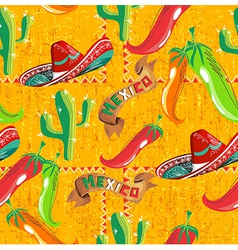 Mexican icons pattern vector