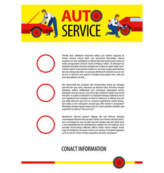 Poster template for autoservice or car repair vector