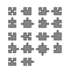 Jigsaw puzzle blank parts constructor vector
