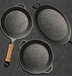 Frying pan design vector image