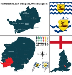 Hertfordshire east of england vector