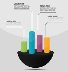 Info graphic cylinder template presentation vector