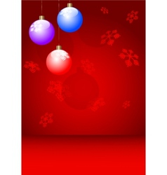 New year postcard xmas card vector