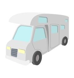 Mobile home truck cartoon icon vector image