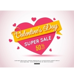 Happy valentines day flyer template for creating vector
