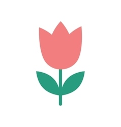 flat icon on white background tulip blooms vector image