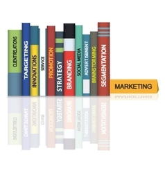 Education books - marketing vector
