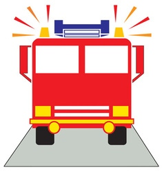 Red fire engine vector