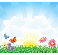 Spring Field vector image