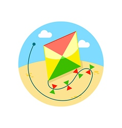 Kite icon summer vacation vector