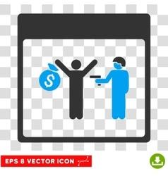 Arrest calendar page eps icon vector