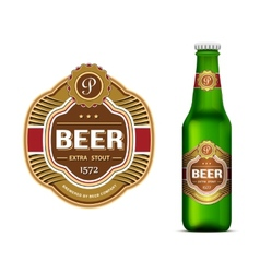 Beer label template vector