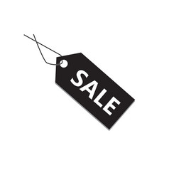 Black sale tag on white background black sale tag vector