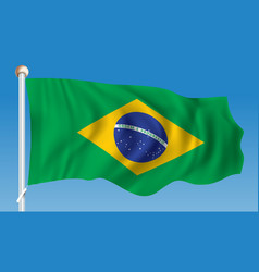 Flag of brazil vector