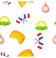 France Republic pattern cartoon style vector image vector image