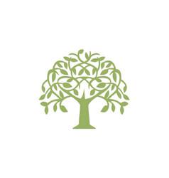Green tree abstract plant logo vector