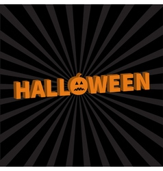 Halloween Lettering 3D text banner with sad orange vector image vector image
