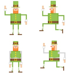 Irish leprechaun vector image vector image