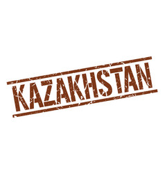 Kazakhstan brown square stamp vector