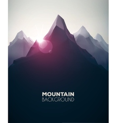 Mountain background vector
