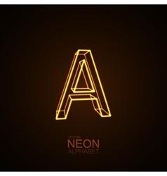 Neon 3d letter a vector