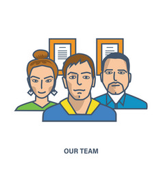 Our team teamwork team skills management vector