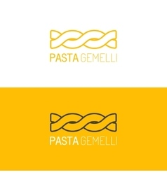 Pasta logo logotype of food linear icon vector