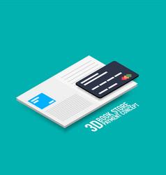 Payment for e-book or e-magazine concept vector