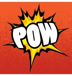 Pow background vector
