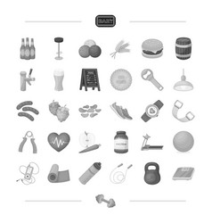 Pub sports foam and other web icon in black vector