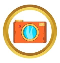 Retro photo camera icon vector image vector image