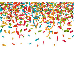 Serpentine curling confetti isolated vector