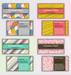 set of vintage business card vector image vector image