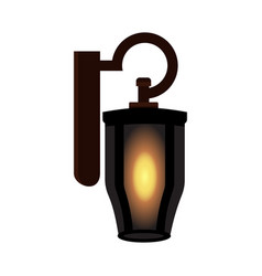 Vintage old lamp isolated vector