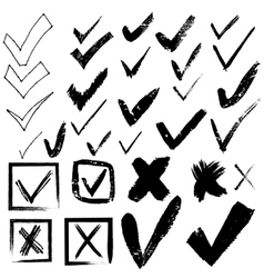 tick and cross set to vote vector image