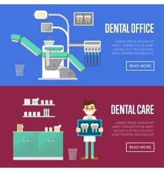 Dental office and care templates vector