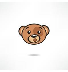 Surprised bear vector image